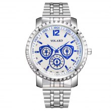 Large Dial Creative Quartz Stainless Steel Dress Watch