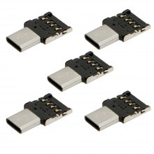 5PCS New products gadgets Type-C to USB 2.0 OTG Adapters