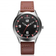 GAIETY G540 Men's Casual PU Leather Band Wrist Watch