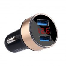 Dual USB Car Charger Adapter 3.1A Digital LED Voltage for Smart Phone/Tablet