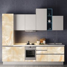 Marble Pattern 3D Cabinet Decorated Waterproof Wall Stickers