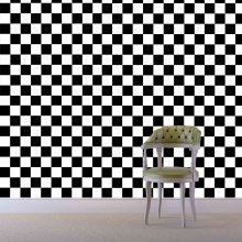 Black and White Square Pattern Creative Removable Wall Stickers