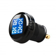 Tire Pressure Monitoring System Wireless Real-Time Cigarette Lighter Plug TPMS